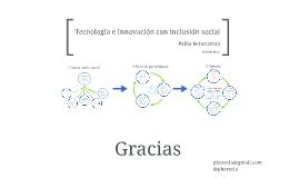 Tecnología e innovación con inclusión social