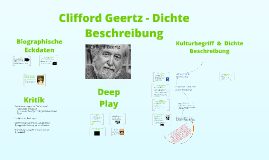 """clifford geertz deep play notes on Clifford geertz, """"deep play: notes on the balinese cockfight"""" is a commentary on balinese culture geertz begins with the way the balinese people acknowledge him in balinese society he is considered to be an outsider and as a result he isn't noticed by the people."""