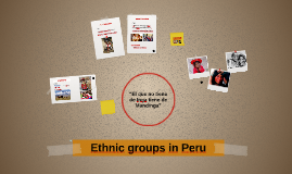 Minorities in Peru