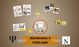 BIENVENIDOS A PSICOLOGÍA