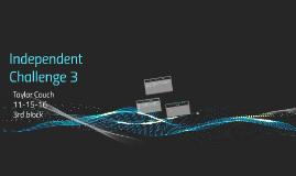 Independent Challenge 3