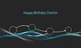 Happy Birthday Cherish