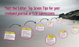Copy of Meet the Editor: Top Seven Tips for Peer Reviewed Authorship