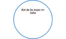 Rol de lla mujer en italia