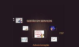 GESTÃO EM SERVIÇOS