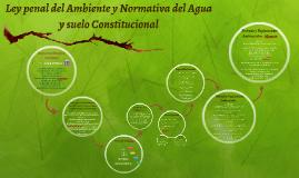 Ley penal del Ambiente y Normativa del Agua y suelo Constitu