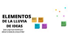 Plantilla - Elementos de Lluvia de Ideas de ALMIKAMA MCARMEN GONZALEZ