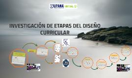 INVESTIGACIÓN DE ETAPAS DEL DISEÑO CURRICULAR