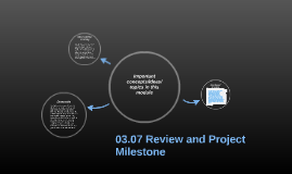 03.07 Review and Project Milestone