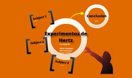 Experimentos de hertz