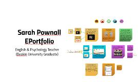 Sarah Pownall EPortfolio