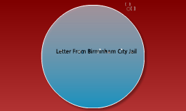 Letter from Birmingham City Jail Style Analysis