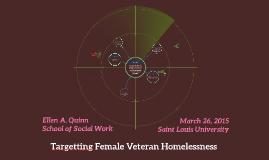 Targetting Female Veteran Homelessness