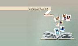 Copy of Appearance Text Set