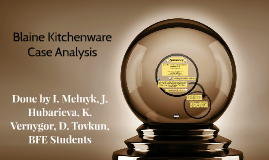 blaine kitchenware inc essay Blaine kitchenware, inc case study 1) do you believe blaine's current capital structure and payout policy are appropriate we believe that blaine's current capital structure and payout policy are inappropriate given the industry trends, comparisons, and financial analysis.