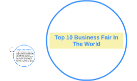 Top 10 Business Fair In The World