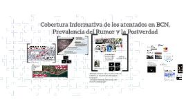 Cobertura Informativa de los atentados en BCN