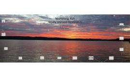 Marketing 415 Study Abroad