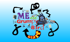 Grumpy me and grumpy bird