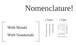 Copy of Copy of Nomenclature