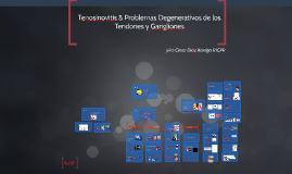 Tenosinovitis & Problemas Degenerativos de los Tendones y Ga