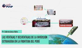 LAS VENTAJAS Y DESVENTAJAS DE LA INVERSIÓN EXTRANJERA EN LA