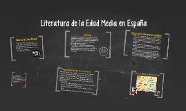 Literatura de la Edad Media en España