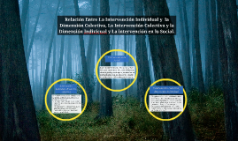 Relación Entre La Intervención Individual y  la Dimensión Co
