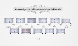 Estereotipos de belleza femenina en la historia