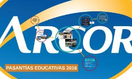 PASANTÍAS EDUCATIVAS 2016