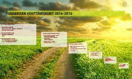 OSAAMISEN KEHITTÄMISKORIT 2014-2015
