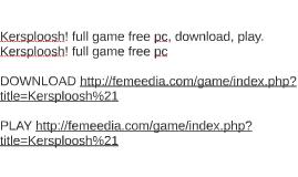 Kersploosh! full game free pc, download, play. Kersploosh! f