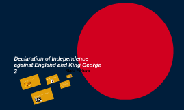 Declaration of Independence against England and King George