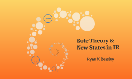 Role Theory; New States in IR