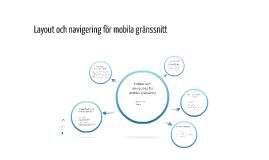 Layout och navigering för mobila gränssnitt