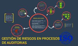 GESTIÓN DE RIESGOS EN PROCESOS DE AUDITORIAS