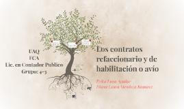 Copy of Los contratos refaccionario y de habilitación o avío