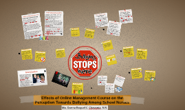 Effects of online management course for school nurses