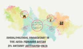 Social/Political Commentary In The Arts: Fernando Botero