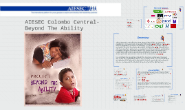 AIESEC CCLC - Beyond the Ability. Sponsorship Brochure.