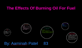 The Effects Of Burning Oil For Fuel