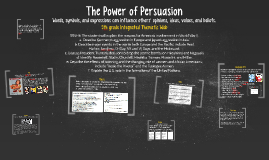 The Power of Persuasion-Integrated Thematic Web