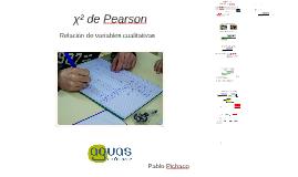 χ² de Pearson