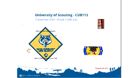 University of Scouting - CUB113