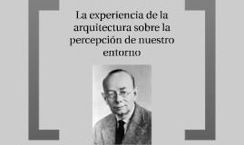 La experiencia de la arquitectura sobre la percepcion de nue