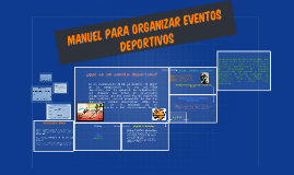 manuel para organizar eventos deportivos