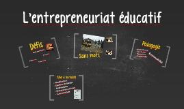 Entrepreunariat éducatif
