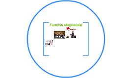 Función Magisterial