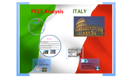 pest analysis of italy Pest analysis of italy 1) political environment from the political point of view italy is an ideal country where to export our product it has good international relationships, especially with other eu countries where we are already present and with the usa.