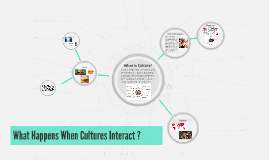 Copy of What Happens When Cultures Interact ?